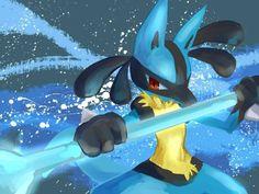 Mega Lucario, Lucario Pokemon, Video Game Characters, My Children, Geek Stuff, Kawaii, Twitter Twitter, Cartoon, Cool Stuff