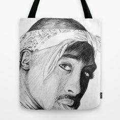 2PAC Tote Bag by DeMoose - $22.00 FREE Shipping thru Sunday, worldwide! #music #classic