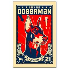 Obey the Doberman! 1921 Mini Poster Print