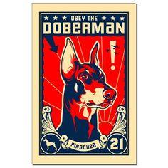 Obey the Doberman! 1921 Mini Poster Print