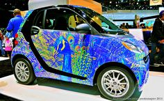 Smart Car with Peacock Decor