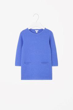 Raised-knit dress