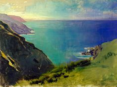 Abbott Handerson Thayer (1849-1921) - Cornish Headlands, 1898 LOOKS LIKE the road to Gouldsboro ME off of Rte 1