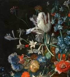 VAN HUYSUM, JAN Dutch: (1682–1749) Still Life with Flowers and Fruit (detail) from 1700 until 1749 Rijksmuseum Amsterdam