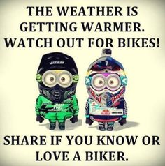 Thursday Minions Funny captions, Thursday Minions Funny captions of the hour, Free Thursday Minions Funny captions, Cute Thursday Minions Funny captions, Random Thursday Minions Funny captions Bike Quotes, Motorcycle Quotes, Road Quotes, Motorcycle Travel, Motorcycle Art, Minions Funny Images, Minions Quotes, Minion Humor, Biker Love