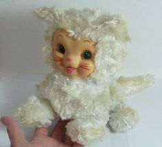 Vintage Rushton Star Creation CAT Rubber Face Stuffed Animal EXCELLENT!