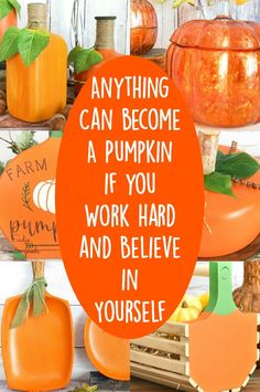It's true- just about anything can be upcycled into a pumpkin! Round, square, rectangle- it really doesn't matter. And if you love pumpkins as much as I do, then you'll LOVE all of these upcycled pumpkin crafts for tons of inspiration! #pumpkins #DIYpumpkins #pumpkinseason #falldecoratingideas #Thanksgivingdecor #upcycledpumpkins #repurposedpumpkins #paintedpumpkins #woodpumpkins Pumpkin Farm, Diy Pumpkin, Pumpkin Crafts, Pumpkin Ideas, Harvest Decorations, Thanksgiving Decorations, Fall Pumpkins, Halloween Pumpkins, Diy Halloween Food