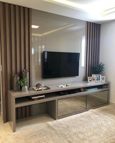 29 Ideas Home Sala Pequena Tv Cabinet Design, Tv Wall Design, Deco Cool, Tv Unit Furniture, Modern Tv Wall Units, Living Room Tv Unit Designs, Apartment Interior, Home Interior Design, Home And Living