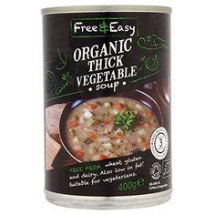 Free & Easy Organic Thick Vegetable Soup - Pack of 6 Gluten Free Diet, Gluten Free Recipes, Gourmet Recipes, Dairy Free, Veg Soup, Wheat Gluten, Organic Vegetables, Vegan Vegetarian, Free Food