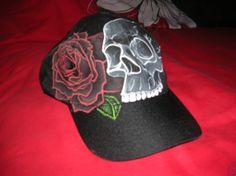 """Black Cap """"Skull and Roses"""" talla única 2ªfoto"""