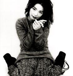 Björk by Jean-Baptiste Mondino, 'Debut' album photoshoot.