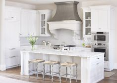 10 Fabulous Gray and White Kitchens - Tuft & Trim