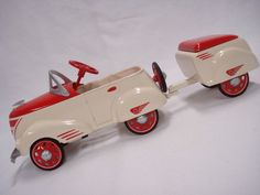 Ed 1940 Custom Roadster w Trailer Kiddie Pedal Car Don Palmiter Hallmark | eBay
