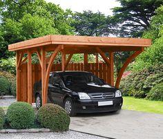 Scierie de la Hardt - carport bois traité toit plat