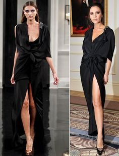 Victoria Beckham in a dress from her label