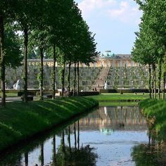Sans Souci - the former summer palace of Frederick the Great, King of Prussia, in Potsdam, near Berlin. It is often counted among the German rivals of Versailles.