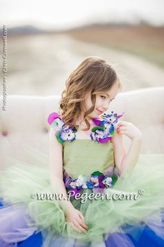 0f026c586f Enchanted Fairy Handkerchief Tulle Skirt with Flower Trim Style 920 by  Pegeen.com Photography by