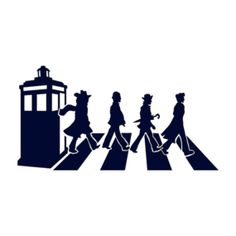 Doctor Who Abbey Road Tardis Dr Who Tattoo, Doctor Who Craft, Uk Tv Shows, Laser Art, Silhouette Cameo Projects, Silhouette Art, Monogram Decal, Abbey Road, Cricut Creations