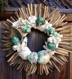 Driftwood and Shell Wreath on Etsy, $145.00