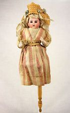 Antique German Bisque Head Musical Marotte c1910