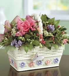 Container Gardening, Decorative Boxes, Floral, Flowers, Home Decor, Decorations, Google, Roses, Decoration Home