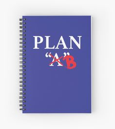 """Hilarious """"Plan B"""" notebook. Perfect gift for those indecisive people. The Notebook Quotes, Notebook Ideas, Notebook Design, Journal Notebook, Notebook Covers, Journal Covers, Diary Covers, Diary Book, Perfect Planner"""