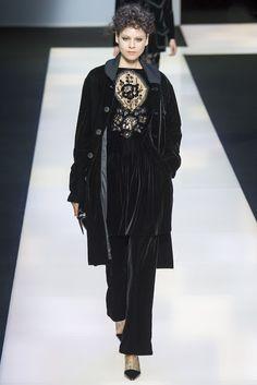 black velvet, Armani fall 2016