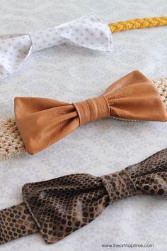 The Leather Bow Belt on iheartnaptime.com ... cute! #DIY #tutorial
