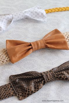 The Leather Bow Belt on iheartnaptime.com ... cute! #DIY #tutorial
