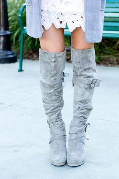 Floral blush dress, shift dress, gray suede over the knee boots, gray suede boots, fashion, fall fashion, fashion blog, style