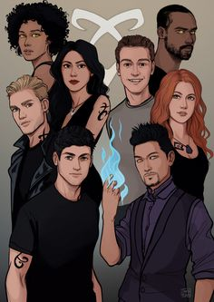 A while back I made this drawing of the Shadowhunter cast for who got it signed by the cast! Clary Et Jace, Shadowhunters Clary And Jace, Shadowhunters Series, Jace Lightwood, Shadowhunters The Mortal Instruments, Clary Fray, Mortal Instruments Runes, Isabelle Lightwood, Maia Roberts