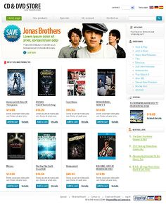 Oscommerce website templates watch store oscommerce template.