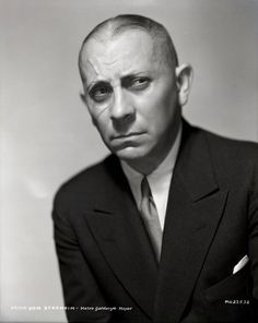 """Erich Von Stroheim, 1885-1957. Actor, film director. Started in silent film and advanced to sound. He's remembered for the role he played as the butler in """"Sunset Blvd""""  of Gloria Swanson, 1950."""