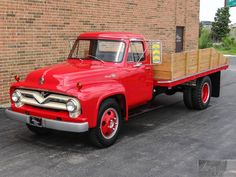 1955 Ford F 600 Stake Bed Dump Truck in , Ford Truck Models, 1956 Ford Truck, Ford Ranger Truck, Car Ford, Mack Trucks, Dump Trucks, Cool Trucks, Big Trucks, Pickup Trucks