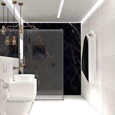 Modern Luxury Bathroom, Contemporary Bathroom Designs, Bathroom Design Luxury, Modern Bathroom Design, Bad Inspiration, Bathroom Inspiration, Black Marble Bathroom, Bedroom Closet Design, Toilet Design