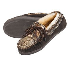 Weber Camo Leather Slippers for Adults (5035)