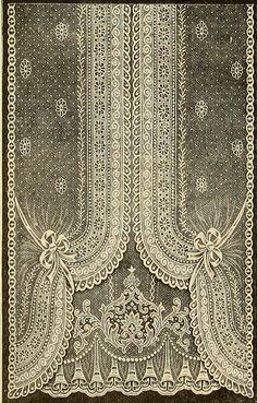Vintage Ephemera: Nottingham Lace Curtain, 1912 - so beautiful! Antique Lace, Vintage Lace, Victorian Lace, Shabby Vintage, Vintage Style, Nottingham Lace, Decoration Shabby, Bordados E Cia, Lace Curtains