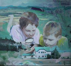 Markus Boesch - The Fire Raisers 120 cm x130 cm Oil on Canvas www.markusboesch.net