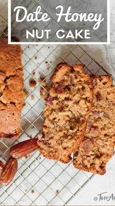 Kosher Recipes, Baking Recipes, Cake Recipes, Dessert Recipes, Bread Cake, Dessert Bread, Moist Date Cake Recipe, Date Nut Bread, Honey Bread