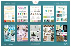 Mood Board / Style Tile Pack by AM Studio on @creativemarket
