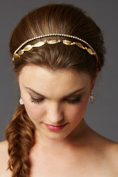 Autumn Alice Gold Headband by Olivier Laudus - Find Your Dream Dress