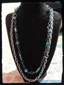 Beautiful 2 tier chain linked necklace- Free Shipping