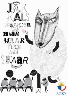afrikaans idioms by Marli Heunis, via Behance