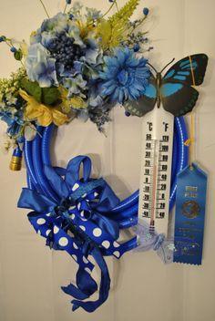 Blue Garden Hose Wreath handmade can be used by NinasCustomCrafts, $45.00
