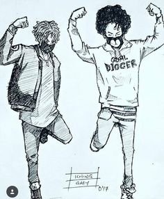 ayo and teo dessin Game Character Design, Character Drawing, Chris Brown Art, Ayo And Teo, Dope Cartoons, Dancing Drawings, Rapper Art, Supreme Wallpaper, Hip Hop Art