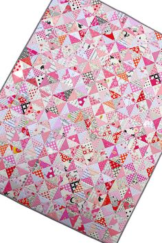 Red Pepper Quilts: Tickled Pink - A Finished Quilt