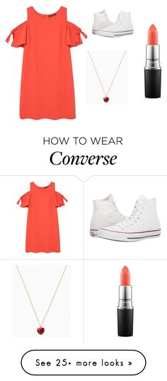 """Sans titre #5721"" by merveille67120 on Polyvore featuring Violeta by Mango, Converse and MAC Cosmetics"