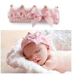 Jan 2016 - You will love this Crochet Baby Crown Pattern Free Video and it's very easy to make. It would be a perfect newborn baby gift for friends and family. Crochet Bebe, Baby Girl Crochet, Crochet Baby Clothes, Newborn Crochet, Crochet Baby Hats, Crochet For Kids, Baby Knitting, Knit Crochet, Free Knitting