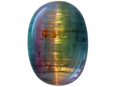 Cat's-eye Tourmaline Brazilian untreated bi-color cabochon Cool Rocks, Beautiful Rocks, Beautiful Things, Crystals And Gemstones, Stones And Crystals, Gem Stones, Buy Jewellery Online, We Will Rock You, Rock Collection