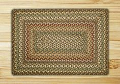 27in. x 45in. Fir & Ivory Rectangle Braided Rug